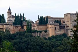 The Alhambra is an imposing palace and fortress complex built for Granada's Moorish monarchs. Situated on a plateau overlooking the historic city, it was largely build between 1238 and 1358 although its origins go back as far as AD889.